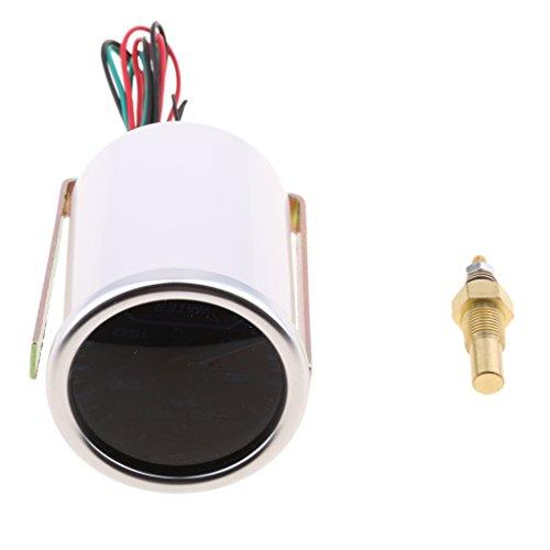 IPOTCH 1 x Elektronische Wassertemperaturanzeige 12V Instrument Motorrad Auto LKW
