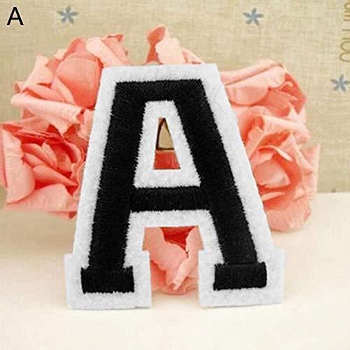Collectsound toppe ricamata a forma di lettere dell'alfabeto dalla a alla z per fai da te, da applicare con cucitura o ferro da stiro a