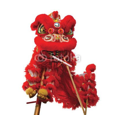 Chinese New Year Costumes - Alu-Dibond-Bild 20 x 20 cm: