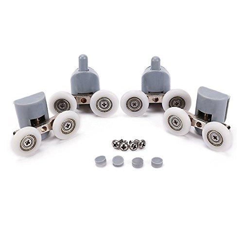 Lance Home roulement douche, kit 8 doubles rouleaux, roues, roulements, roulettes pour la porte de douche cabine 23 mm