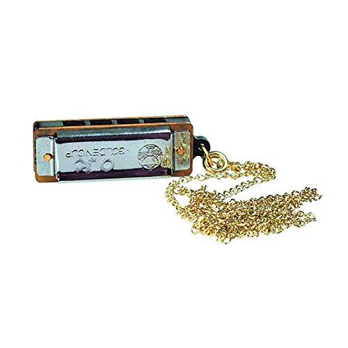 Goki UC080 - Musikinstrument - Mini-Mundharmonika mit Kette