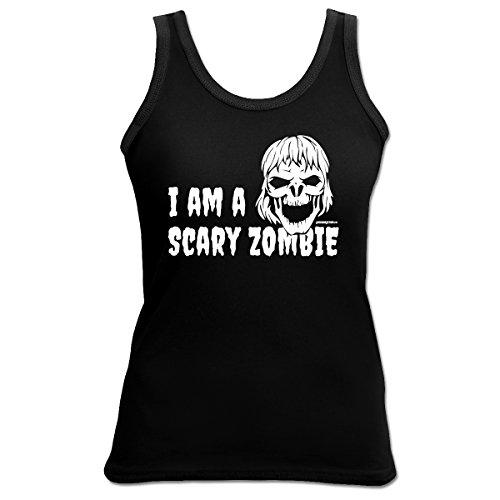Halloween Scary Zombie 4 Girls Beach Tanktop Geschenk geil bedruckt Goodman Design ()