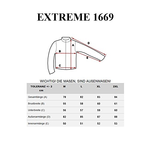 BOLF – Veste – Fermeture éclair – EXTREME 1669 – Homme Bleu foncé