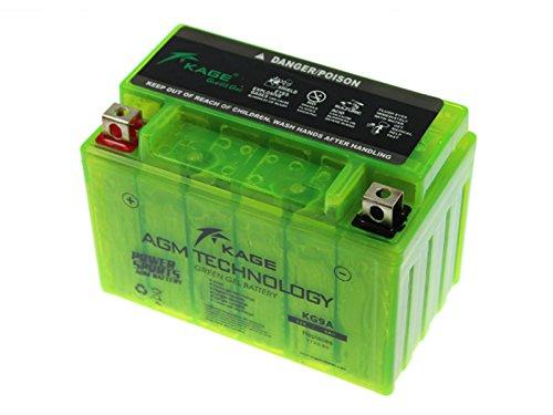 GEL-Batterie-KAGE Green YTX9-BS 9AH für Adly/Herchee Aeon Aprilia Arctic Cat ATU Barossa/SMC Benelli Beta Cagiva Daelim Derbi E-Ton Husaberg Hyosung Kawasaki Kreidler Kymco MBK (Beta-maschine)