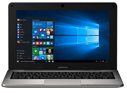 "MEDION AKOYA S2218 (MD 99630) 29,5cm 11,6"" Zoll Notebook, Intel Atom Z3735F, 1,33GHz, 2GB RAM, 64GB Flash, Windows 10, Silber"