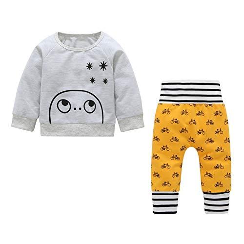 Bornbayb Kinder Kleidung Set Langarm Pullover Tops und Hosen Dicker Outfits Warme Kostüme - Schneeanzug Oberbekleidung