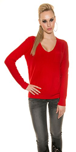 In-Stylefashion - Sweat-shirt - Femme rouge Rot Rouge