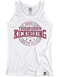 Thumbsdown Kickboxing Tank Top. Vest. Hard Workout. Thumbsdown Last Fight. Gladiator Bloodline. Martial Arts. Fightwear. Training. Casual. Gym. MMA T-shirt