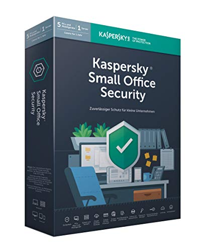 Kaspersky Small Office Security 6, Standard, 5 Geräte, 5 Mobil, 1 Server, 1 Jahr, Windows/Mac/Android/WinServer, für kleine Unternehmen, PC/Mac, Box -
