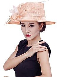 EOZY Damen Mädchen Fascinator Vintage Kostüm Hut mit Feder für Cocktail Hochzeit Reise