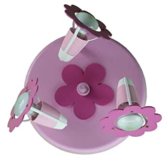 nailfun elobra leuchten plafonnier en forme de fleur rose. Black Bedroom Furniture Sets. Home Design Ideas
