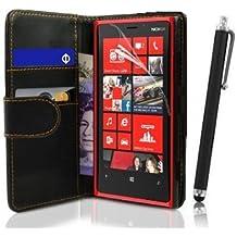 Etui Housse Luxe Portefeuille pour Nokia Lumia 820 + STYLET et 3 FILMS OFFERTS !
