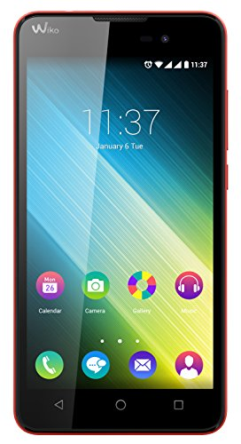Wiko Lenny 2 Smartphone (12,4 cm (5 Zoll) IPS-Display, 1,3 GHz Quad-Core Prozessor, 8GB interner Speicher, 1GB RAM, Android 5.1 Lollipop) koralle