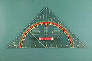 WISSNER® 167150.000 - Escuadra de geometría Profesional (80 cm), Transparente