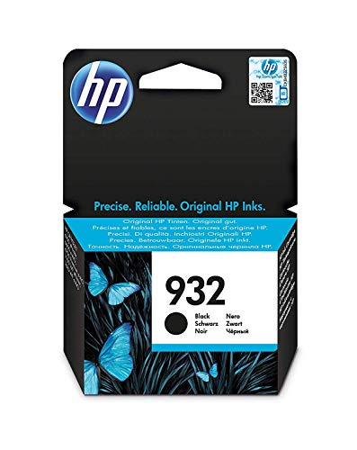 HP Inchiostro 932 CN057AE Cartuccia Originale, 400 Pagine, per Stampanti a Getto di Inchiostro HP OfficeJet 6100, 6600, 6700, 7110, 7510, 7610 e 7612, Nero