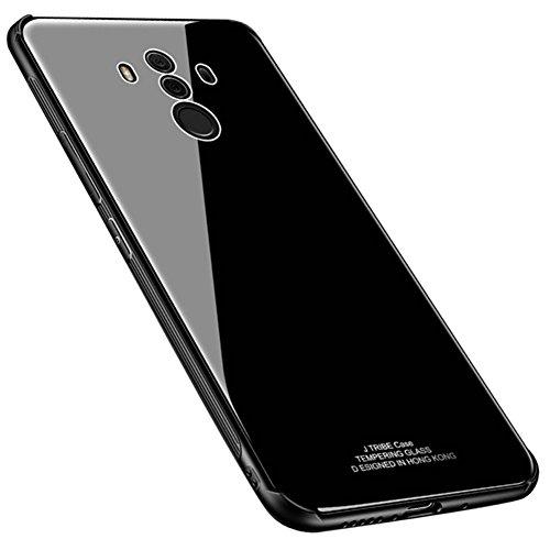 Kepuch Quartz Huawei Mate 10 Pro Hülle - TPU + Gehärtetes Glas Rückseite für Huawei Mate 10 Pro - Schwarz