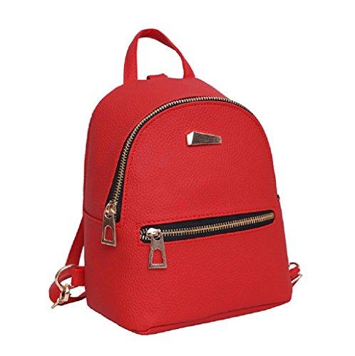 Imagen de  mujer sannysis mujeres bolsos de cuero con cremallera rojo