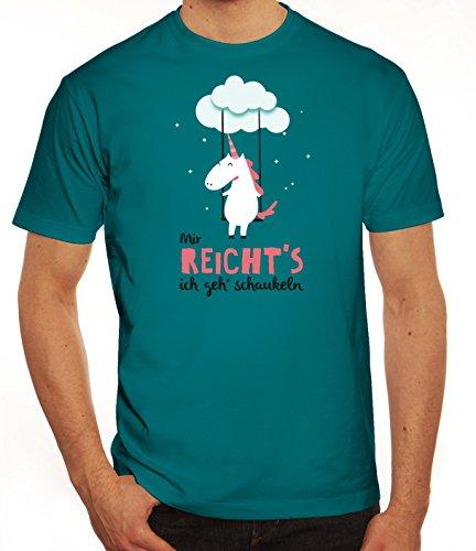 Unicorn Herren T-Shirt mit Einhorn - Mir reicht's ich geh schaukeln Motiv von ShirtStreet Diva