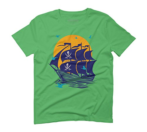 Pirates By The Seagulls Bay Men's Graphic T-Shirt - Design By Humans Green
