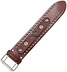 Nemesis BJB 51mm Wide Basic XL Patent Leather Brown Watch Bracelet