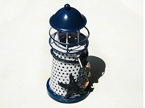 xiuxiandianju Iron Eastern Mediterranean Sea Lighthouse Creative Ornament for Living