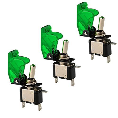 KINYOOO 3 Pcs Luz LED Interruptor de Palanca SPST, Interruptor Basculantes 12V...