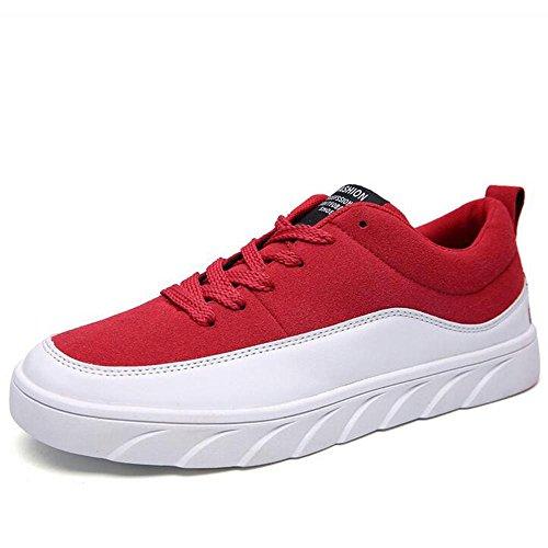 Mr. LQ - Beiläufige Segeltuch-Skateboard-Schuhe der Männer Red