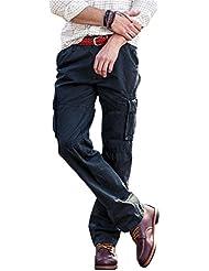 Herren Cargo Stoff Hose , 5 Farben, Arbeitshose Designer Chino Regular Fit von INFLATION