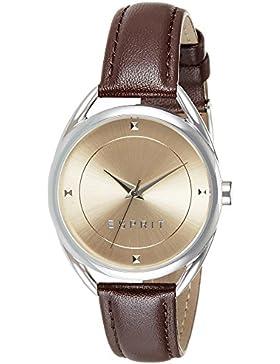 Esprit Damen-Armbanduhr TP90655 Dark Brown Analog Quarz Leder ES906552003
