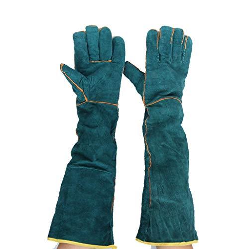 DUDDP Guantes de soldadura eléctricos alargados, seguro de mano de obra, guantes...