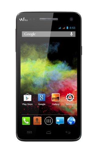 Wiko Rainbow Smartphone (12,7 cm (5 Zoll) HD (1280 x 720 Pixel), DUAL SIM, Quad-Core 1,3GHz Prozessor, IPS HD-Touchscreen, 8MP Kamera, 2MP Frontkamera, 4GB interner Speicher, 1GB RAM, Android 4.2 ) schwarz