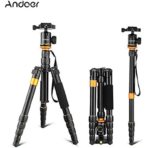 Andoer® Q-278 Pro Pieghevole Ptaccabile Regolabile Video Treppiedi Monopiede Testa a Sfera per DSLR Canon Nikon Sony Panasonic