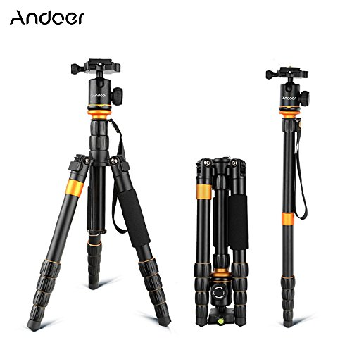 Andoer® Andoer Profesional Plegable Desmontable Ajustable Fotografía Cámara Digital Videocámara Vídeo Trípode Cabeza de la Bola Monópode para Canon Nikon Sony Panasonic DSLR