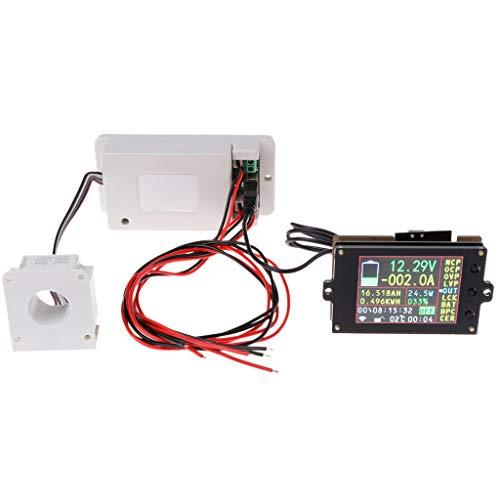 100a Verkabelung (MIUSON DC 500V 100A 200A 500A Wireless Voltmeter Amperemeter Coulometer Batterieleistungsmesser)