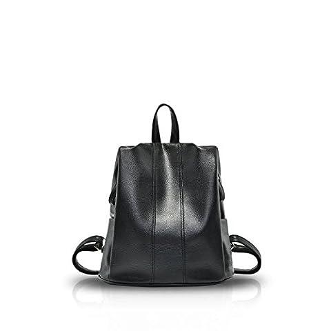 Nicole&Doris Sacs New School Girl Backpack Voyage Daypack cuir PU Fashion (Zaino In Pelle Nera Borse)