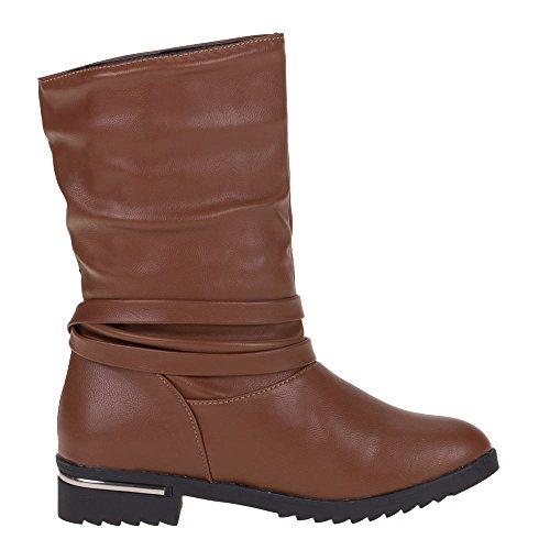 Damen Schuhe, W09, STIEFELETTEN Braun