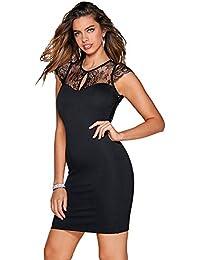 Vestido Escote Redondeado con Abertura en v Mujer by Vencastyle - 018031