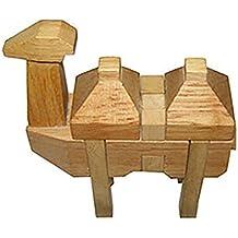 NAUY- Juguetes educativos para adultos Juguetes clásicos Kong Ming Lock Los juguetes de inteligencia de los niños de la bola de Luban Animal Camellos bactrianos