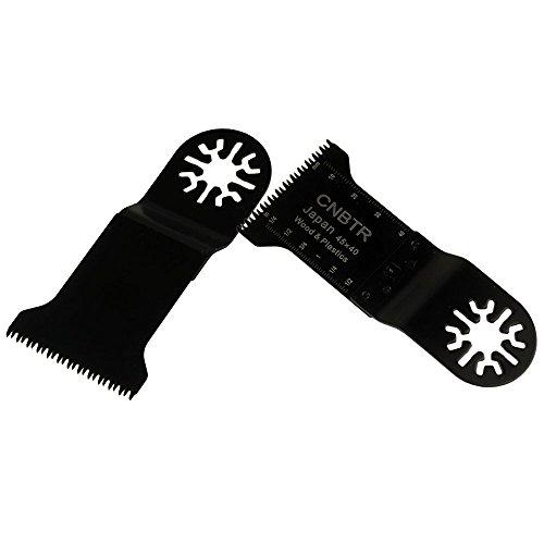 cnbtr 32x 40mm schwarz kohlenstoffreicher Stahl Universal Japan Zahn oszillierendes Sägeblatt Multi Tools Set 50Stück