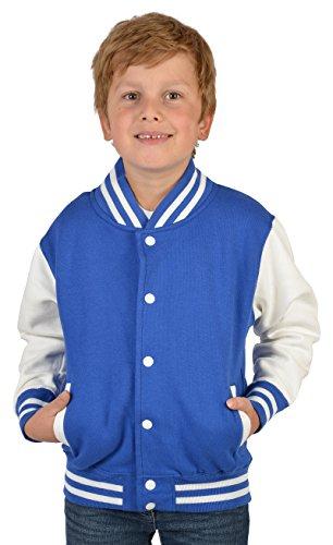 coole und lässige Jungen College Jacke: Bad Smilie Farbe: royal-blau