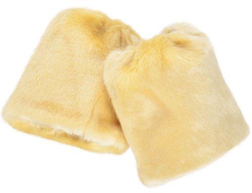 Simplicity Damen Soft Furry Stiefel Manschette Stulpen, damen, Length 6