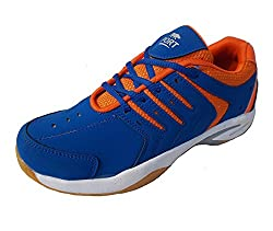 Port Mens Blue Quantum Synthetic Leather Basketball Shoes(6 Ind/Uk)