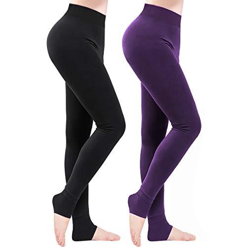 Weeygo 2 Pares Leggings para Mujer