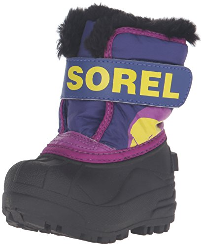 Sorel Childrens Snow Commander Unisex-Kinder Schneestiefel, Mehrfarbig (Grape Juice/Bright Plum), 24 EU (1964 Winterstiefel Pac)