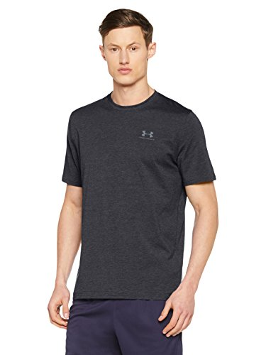 Under Armour Herren Fitness Cc Left Chest Lockup Kurzarm T-Shirt, Schwarz (Black /  / Steel), XXL (Logo T-shirt Company)