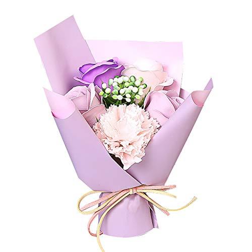 Maleya Valentine's Day DIY Soap Flower Gift Rose Box Bouquet Wedding Home Festival Gift Flowerbox Kunstblumen Rosenköpfe Kunstrose Für Valentinstag Hochzeit Muttertag Jahrestag Geburtstag Gift