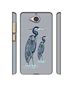 NattyCase Two Swan Design 3D Printed Hard Back Case Cover for Gionee S6 Pro
