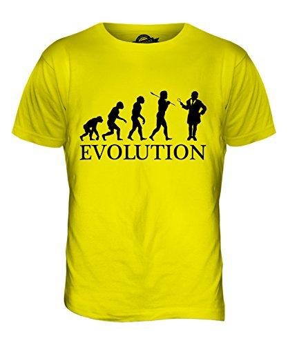 CandyMix Detektiv Evolution Des Menschen Herren T Shirt Zitronengelb