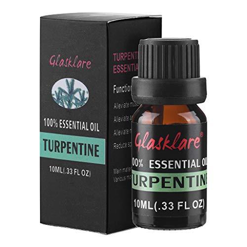 Oasics Ätherisches Öl Terpentinöl Einzelne Ätherische Öle Massage Ätherisches Öl Natural Pure Parfümöl Entspannendes Massageöl (10ml) - ätherische Vanille öle Gewürz