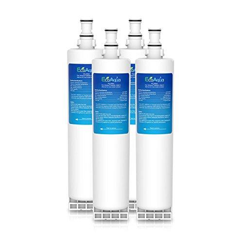 EcoAqua EFF-6002A Wasser-Kühlschrankfilter Kompatibel mit Whirlpool 4396508, SBS002; Hotpoint 46195027119, 481248088024, MSZ7 / MSZ8 Serie, 4392857, 4392922, MSZ822DFHA, MSZ902DFHA, MSZ926DFHA (4) (Pur Wasserfilter 4396508)